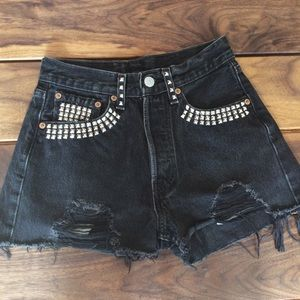 Levi's Studded Cut Offs Jean Shorts